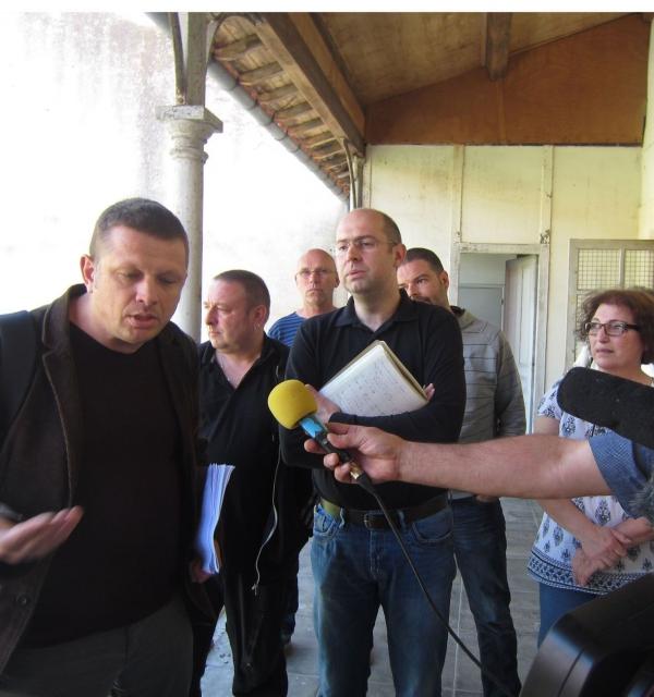 Trois responsables nationaux CGT, FSU Solidaires ainsi que leurs homologues départementaux (AM)