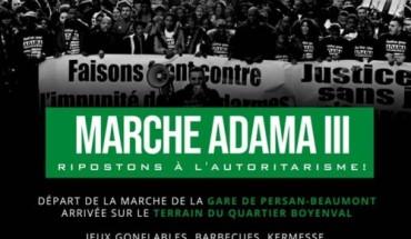 Affiche Solidaires de l'appel à la marche pour Adama