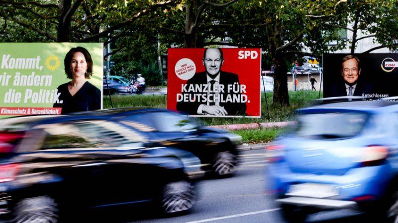 Allemagne affiches de campagne d-1 parti néonazi contre les écolos
