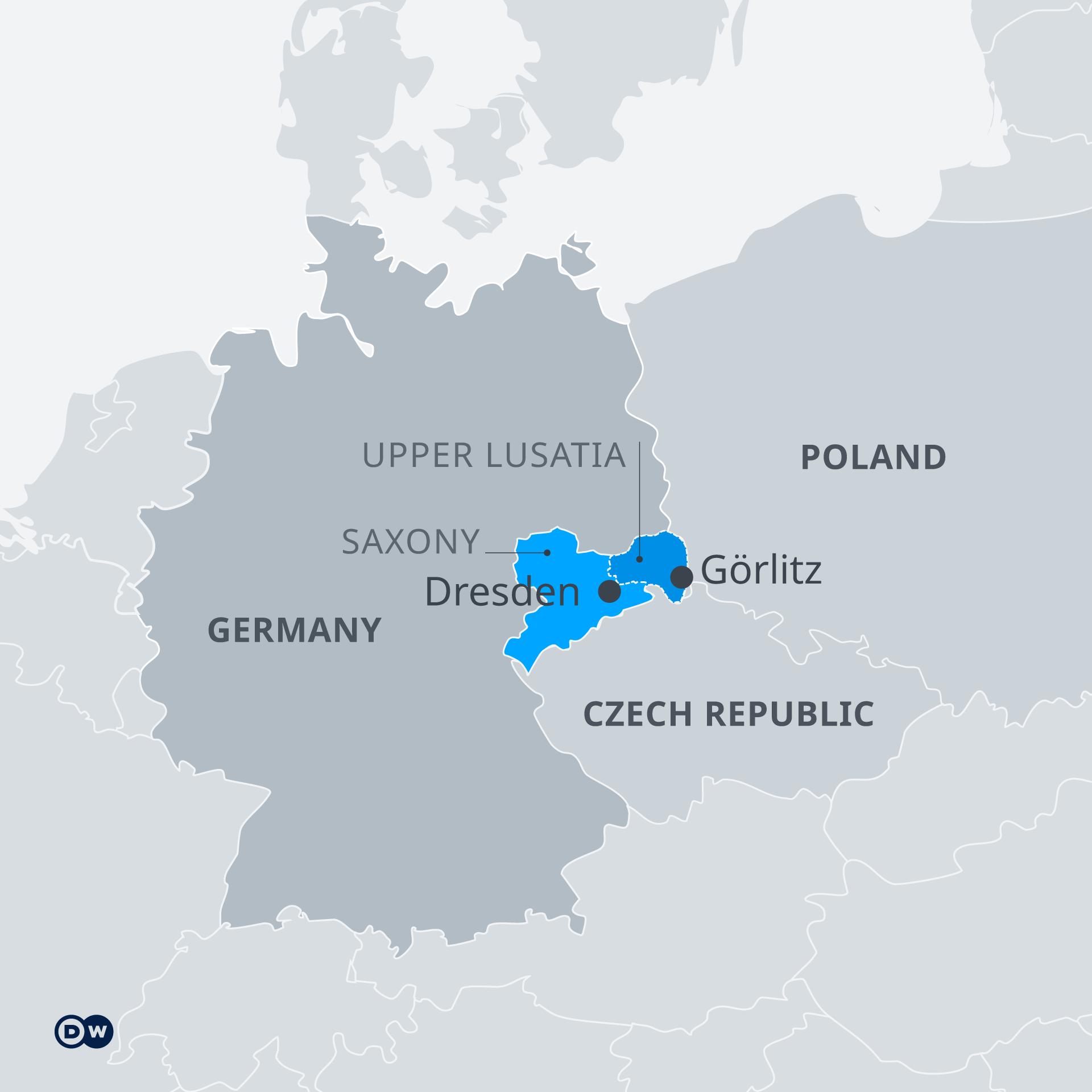 Allemagne carte Saxe bastion de l-Ed et l-afD
