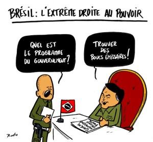Brésil caricature