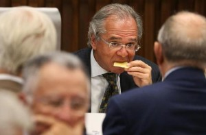 Economist Paulo Guedes, incoming Brazil's Economy Minister, attends a lunch with businessmen at the Federation of Industries of Rio de Janeiro (FIRJAN) headquarters, in Rio de Janeiro