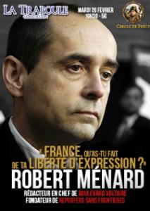 L'affiche de la conférence de R. Ménard à la Traboule à Lyon.