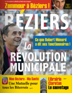 Le journal municipal de Béziers d'octobre 2014.