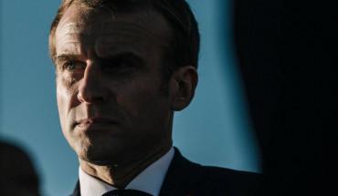 Emmanuel Macron, à Tremblay-en-France (Seine-Saint-Denis), le 14 octobre. (Denis Allard/Libération)