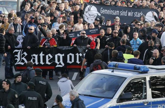 Manifestation néo-nazie à cologne