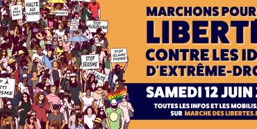 Marche pr les libertészet contre l'extrême droite