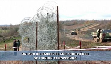 Murs de barbelés aux frontières de l'UE