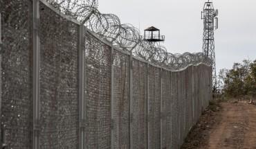 Mur de barbelés à la frontière Turquo-Bulgare