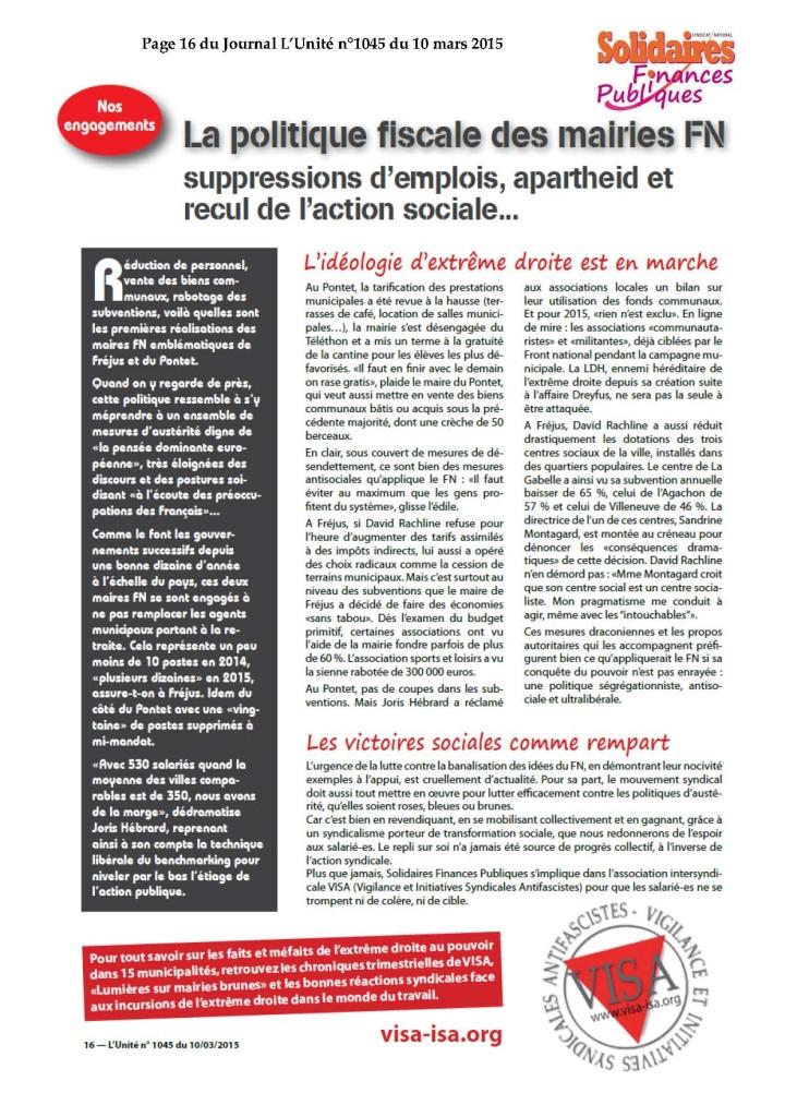 P16 Unité mairies FN et politique fiscale