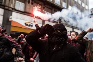 Hooligans à Bruxelles le dimanche 27 mars