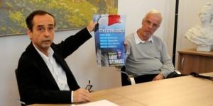 Ménard, maire de Béziers, et son adjoint