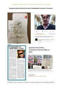 Quelques exemples d'actes islamophobes